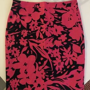 J Crew printed pencil skirt (size 6)